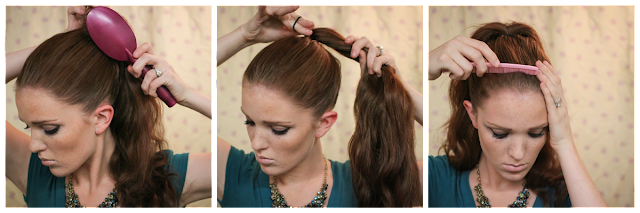 Magnificent The Freckled Fox Holiday Hair Week Tutorial 5 The Sleek Ponytail Short Hairstyles Gunalazisus