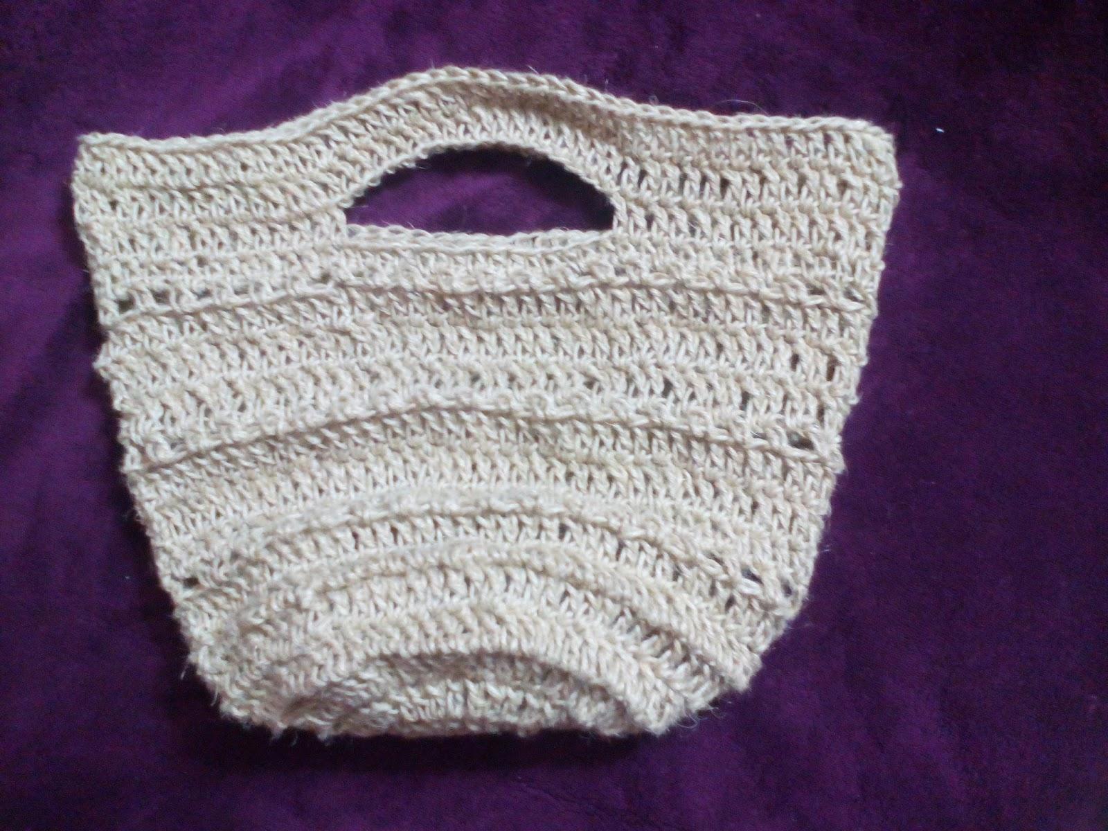 El rincón de mis labores: bolso de cuerda a crochet