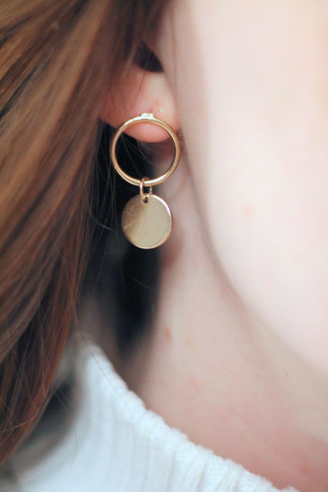 happiness boutique gold circle hoop earrings