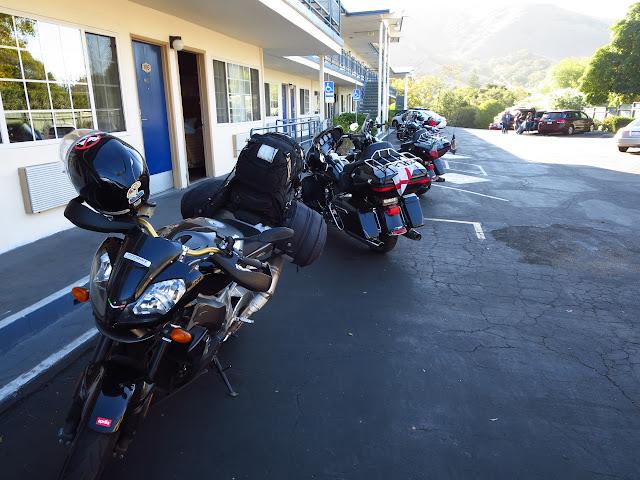 Aprilia Tuono San Luis Obispo Motel