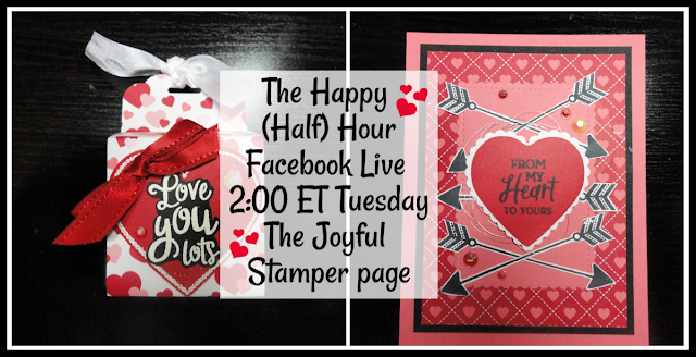 Happy (Half) Hour Facebook LIve stamping class every Tuesday at 2 PM ET on The Joyful Stamper Facebook Page