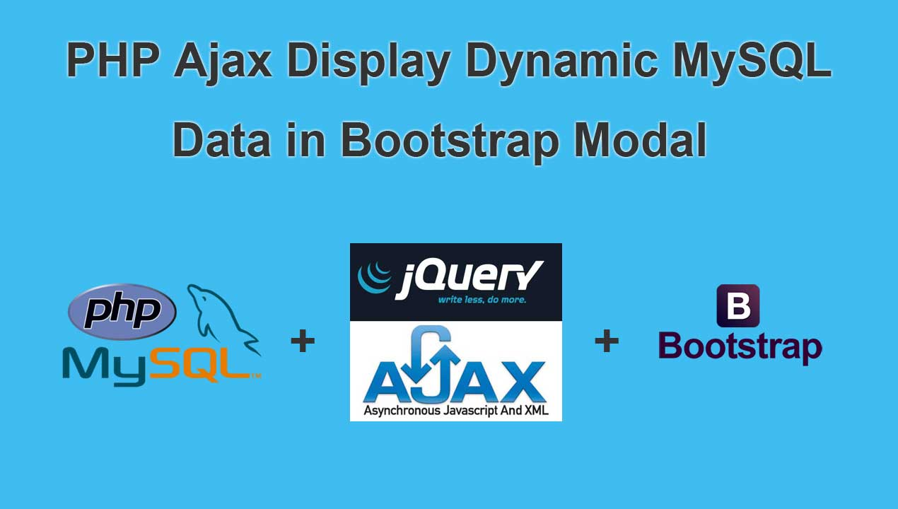 PHP Ajax Display Dynamic MySQL Data in Bootstrap Modal