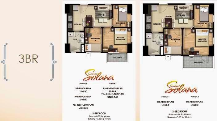 Solana Condominium 3 Bedroom Unit With 1 Blacony