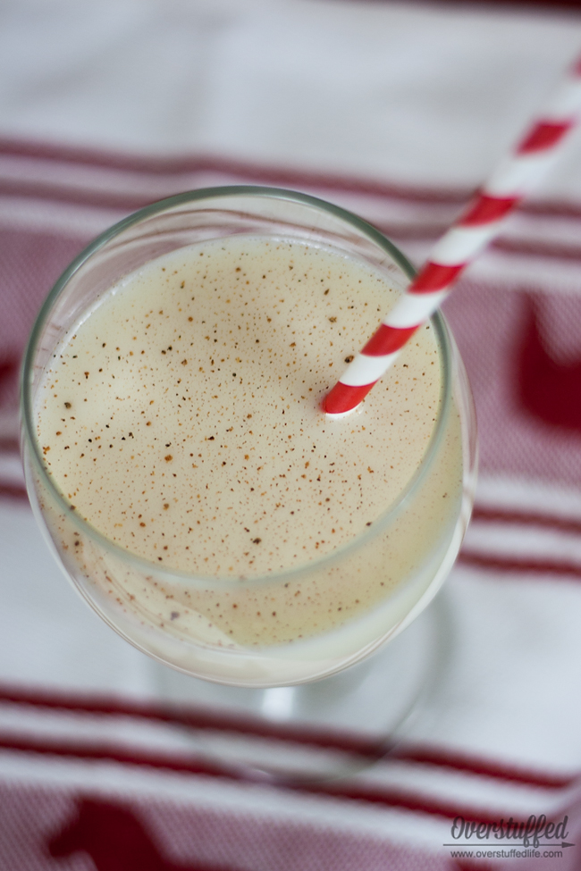 Adding a dash of nutmeg to your eggnog is an easy way to dress it up.