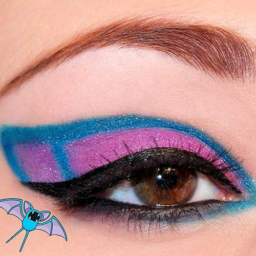 maquillaje ojos pokemon go : Zubat