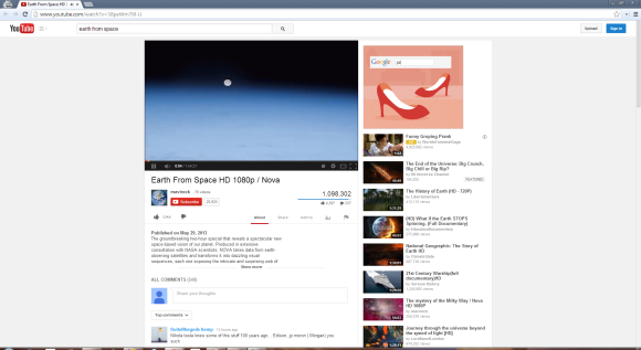 A YouTube Experiment Resizes the Player Dynamically