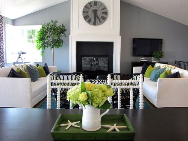 Accent Colors For Gray Living Room