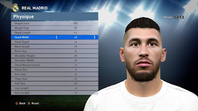 PES 2016 Sergio Ramos Face by Brilyan