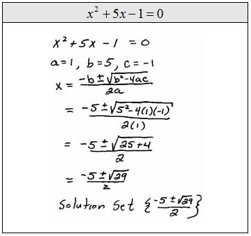 quadratic formula examples - photo #40