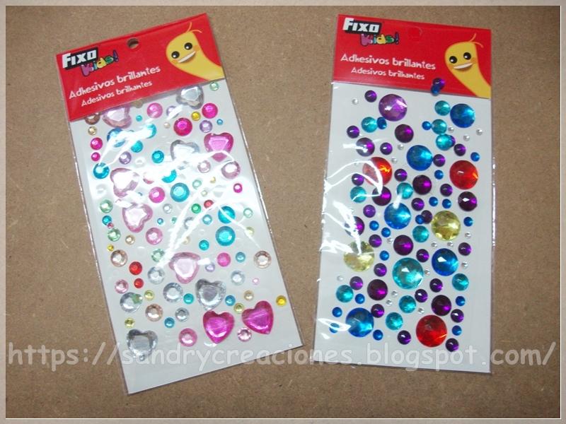 Adhesivos brillantes Fixokids y otros adhesivos decorativos