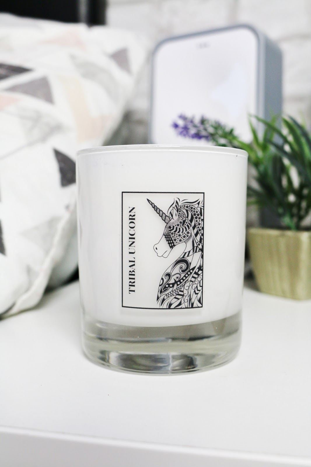 Tribal Unicorn Candles