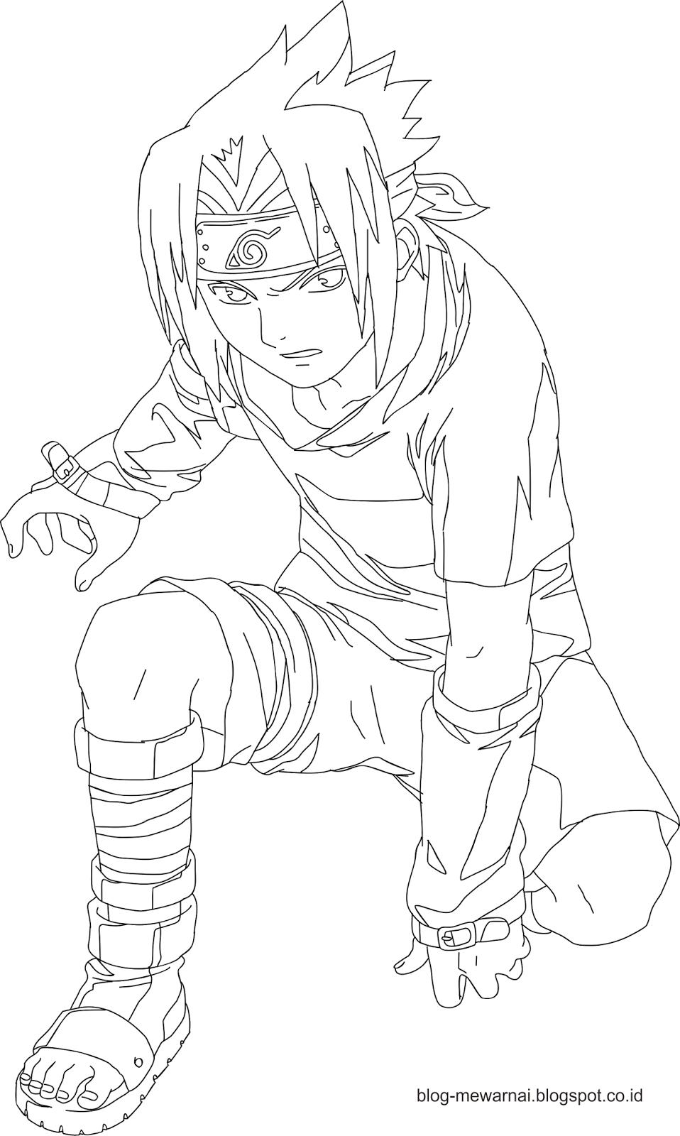 Gambar Mewarnai Naruto Dan Sasuke Gambar Mewarnai Gratis