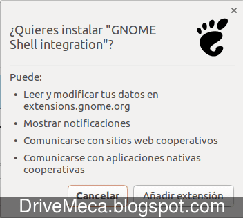 Confirmamos la instalacion de la extension en google chrome
