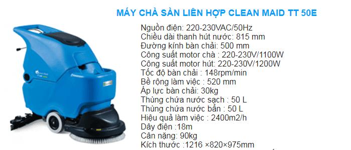 Máy lau sàn nhà máy Clean maid sử dụng điện
