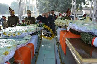 UP Governor Ram Naik Saluting Gurez Martyrs in lucknow
