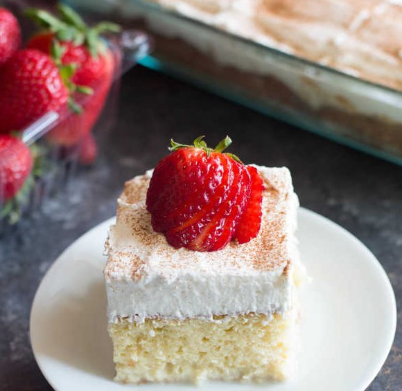 TRES LECHES CAKE #dessert #mexicandessert