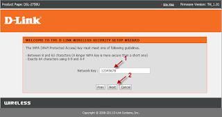 เปลี่ยนรหัส wifi d-link dsl-2750u