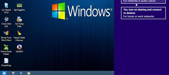 Màn hình Desktop của Win 8 PE 64bit