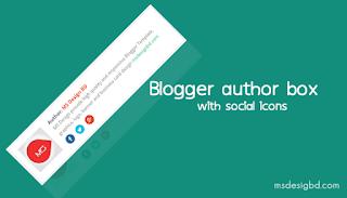 Hộp tác giả cho blogspot