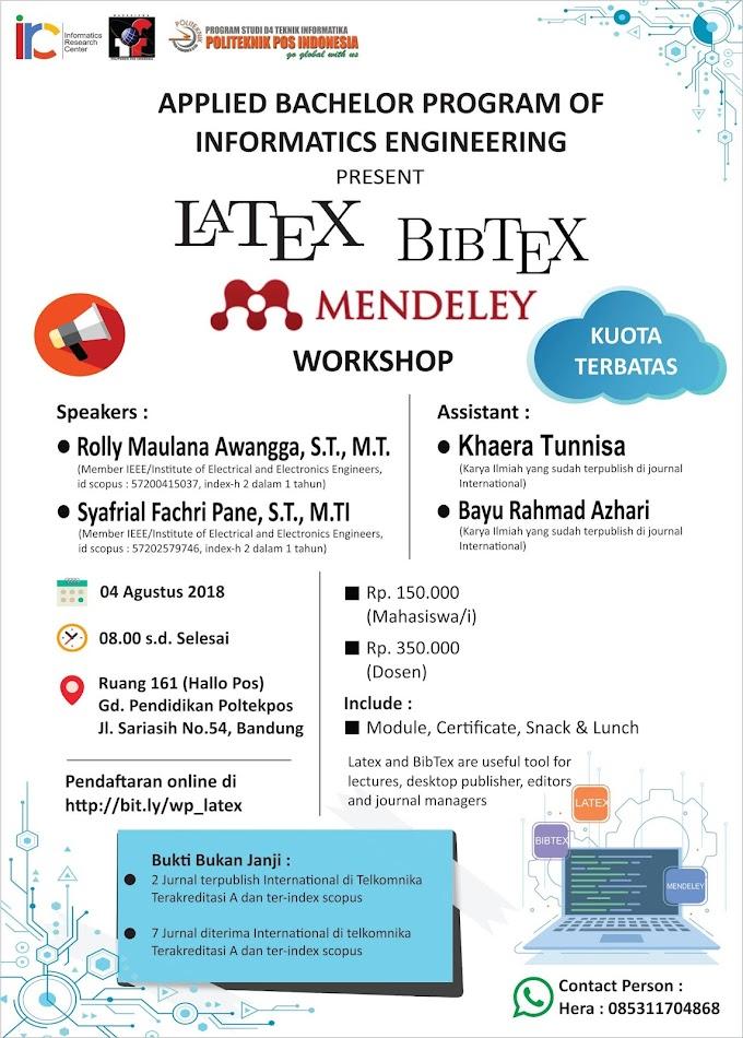 Workshop LATEX, BIBTEX dan MENDELEY