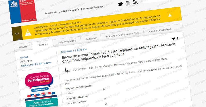 TERREMOTO en Chile de Magnitud 6.7 y Alerta de Tsunami (Hoy Lunes 31 Agosto 2020) Sismo Temblor Epicentro - Huasco - Atacama - Antofagasta - Coquimbo - Valparaíso - Metropolitana - Vallenar - ONEMI
