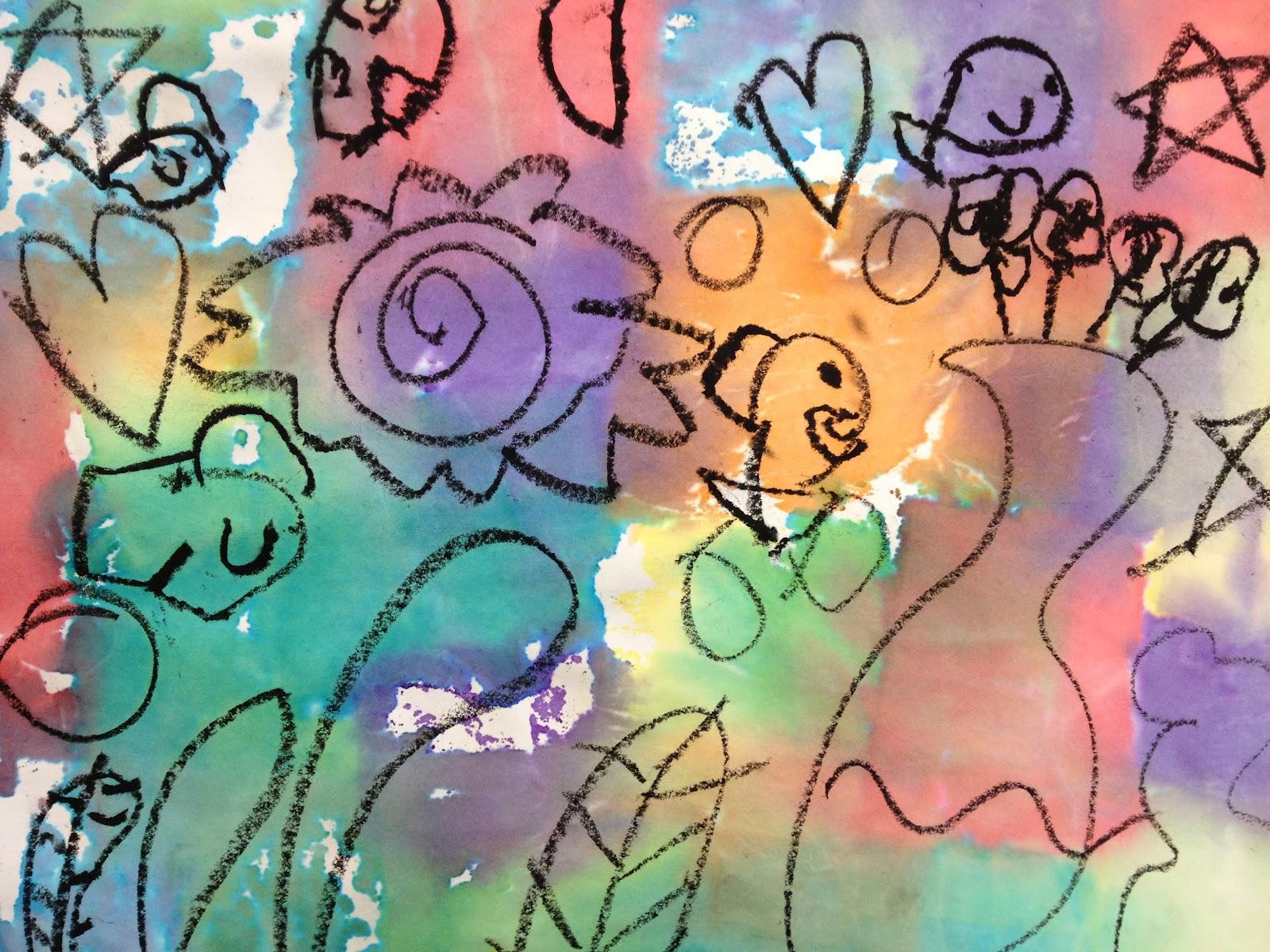 Underwater Fantasy inspired by Paul Klee • TeachKidsArt