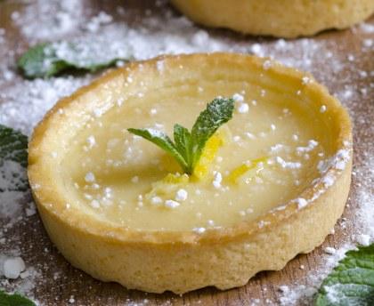 Lemon basil tarts