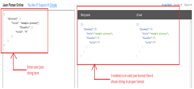Valid JSON string