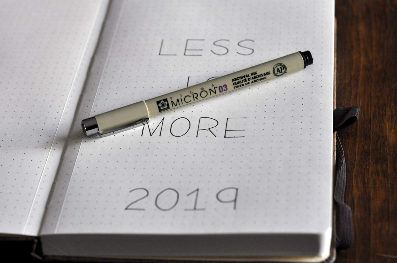Taste As You Go: Less is More in 2019