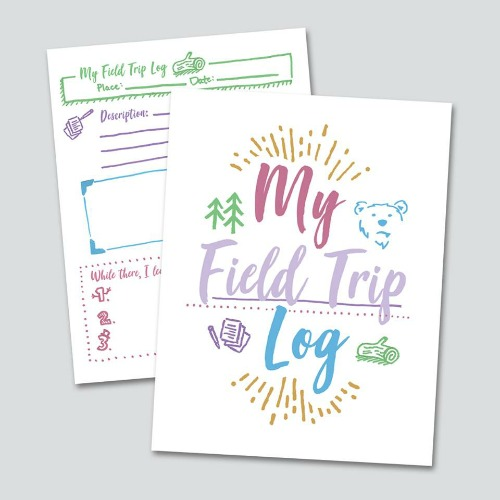 Free Field Trip Log Printable #homeschool #fieldtrip