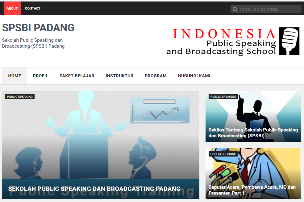Web Design : SPSBI Padang