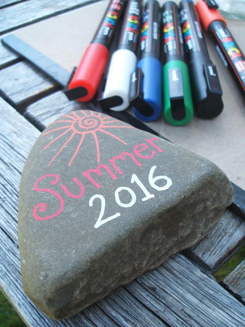 posca pen pebble art summer 2016