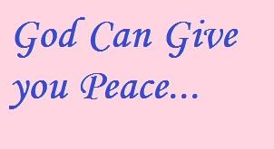 God gives peace