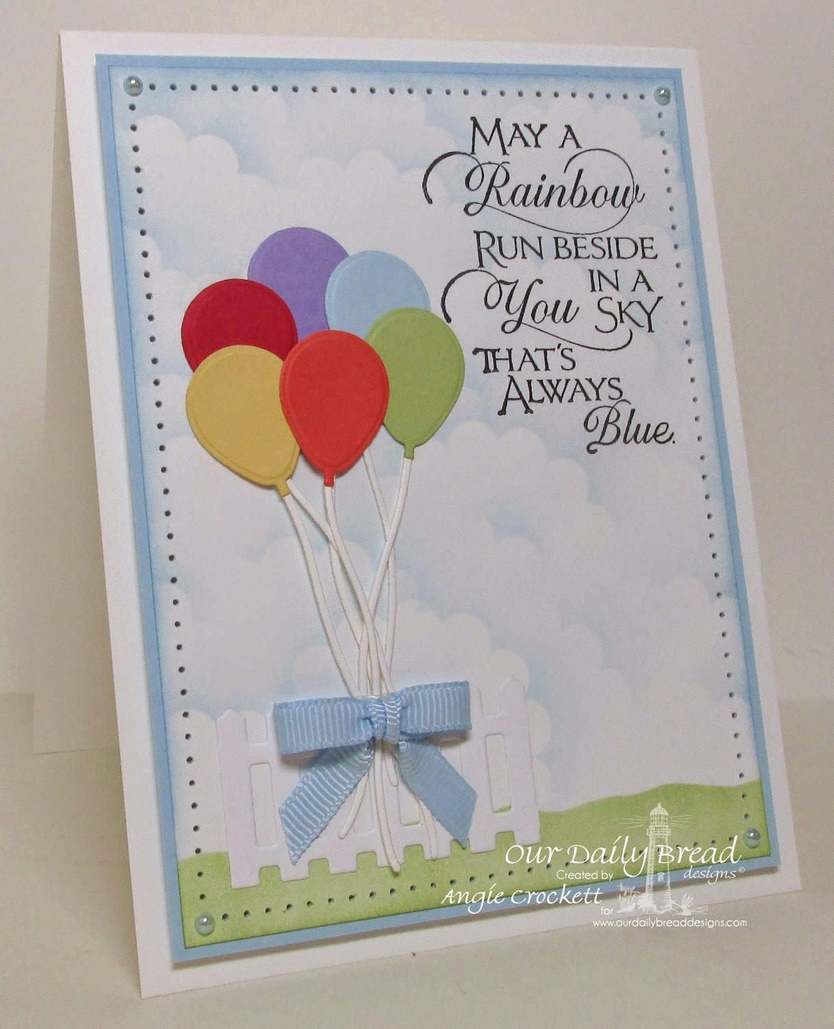 ODBD Sentiments Collection 2, ODBD Custom Happy Birthday Dies, ODBD Fence Die, Card Designer Angie Crockett