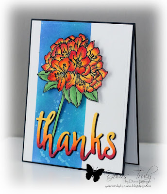 Diana Nguyen, Stampin Up, Best thoughts, Altenew, Thanks, Distress Inks, handmade card