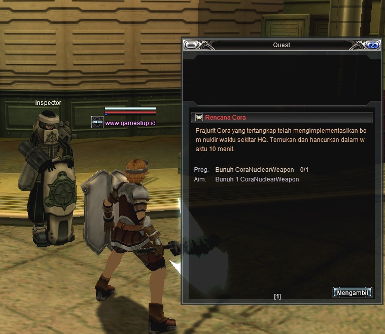 Quest Armor Intense Level 35 Bellato RF Online