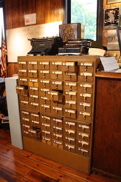 Nostalgic card catalog found at the Oak Park River Forest Museum