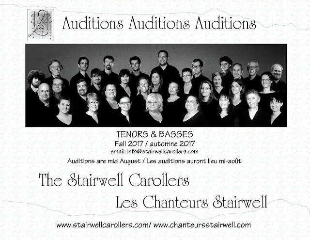 Stairwell Carollers audition flyer Fall 2017