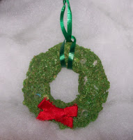 Shredded Wheat Wreath Ornament
