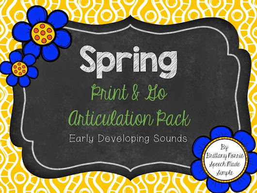 SPRING Print and Go Packs