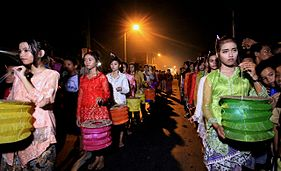 Lampion Impes Khas Jepara pada acara Pesta Baratan