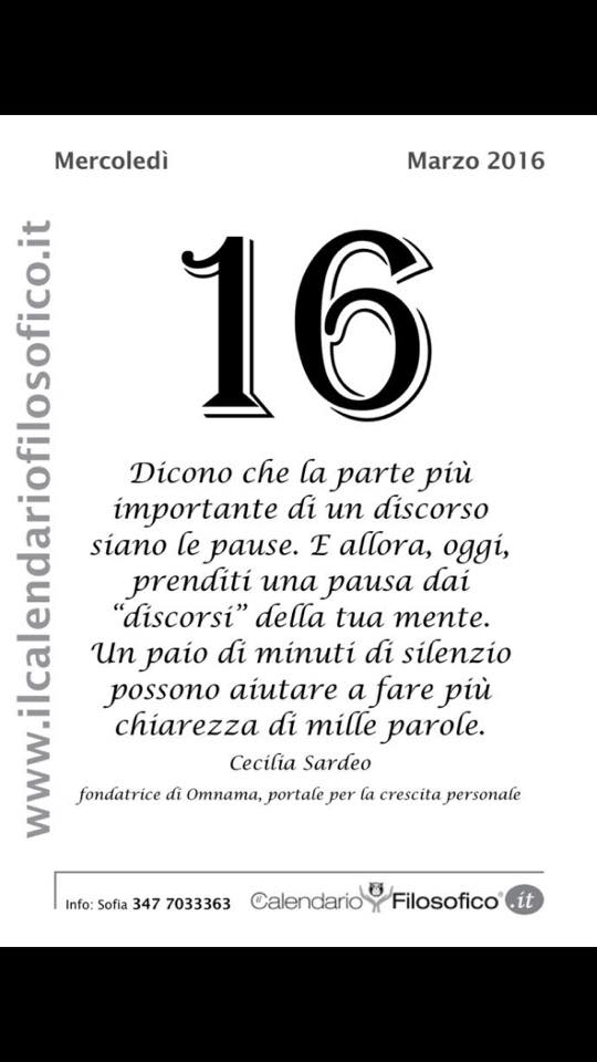 Calendario Filosofico Frase Di Oggi.La Frase Del Giorno Dal Calendario Filosofico Liparinet