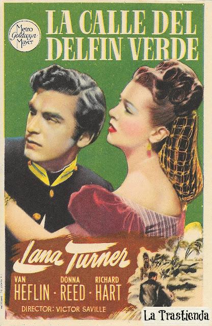 Programa de Cine - La Calle del Delfín Verde - Lana Turner - Van Heflin