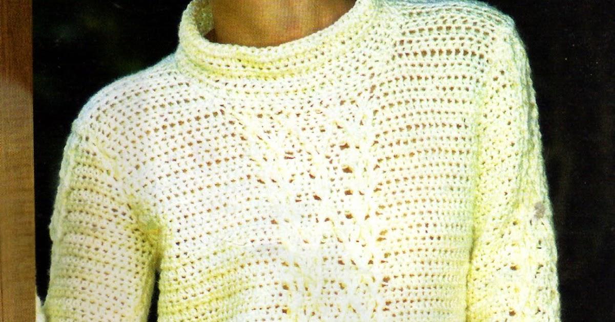 tejidos artesanales en crochet  sueter pull basico tejido en crochet 39c270f22f95