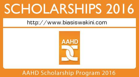 AAHD Scholarship Program 2016
