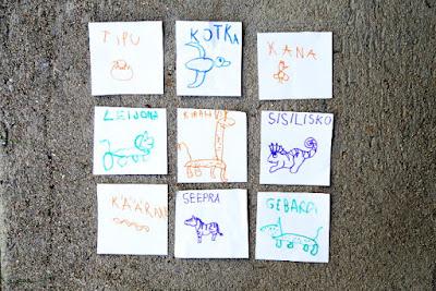 Eläinsuunnistuksen eläinkortit