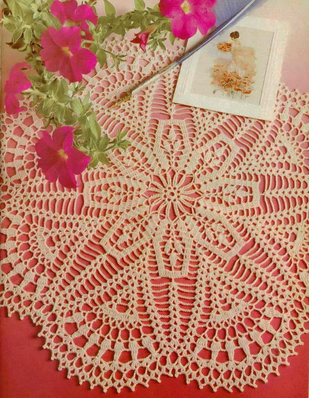 Crochet Doily pattern diagram - 26 rows no:25