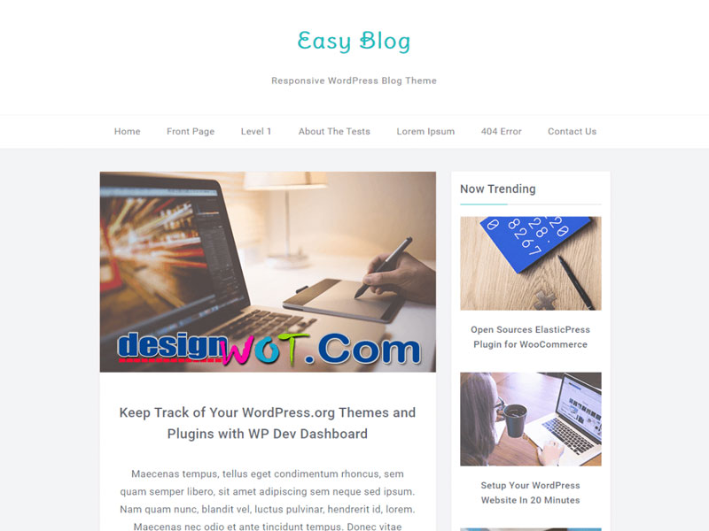 EasyBlog Fully Responsive Blogging WordPress Theme
