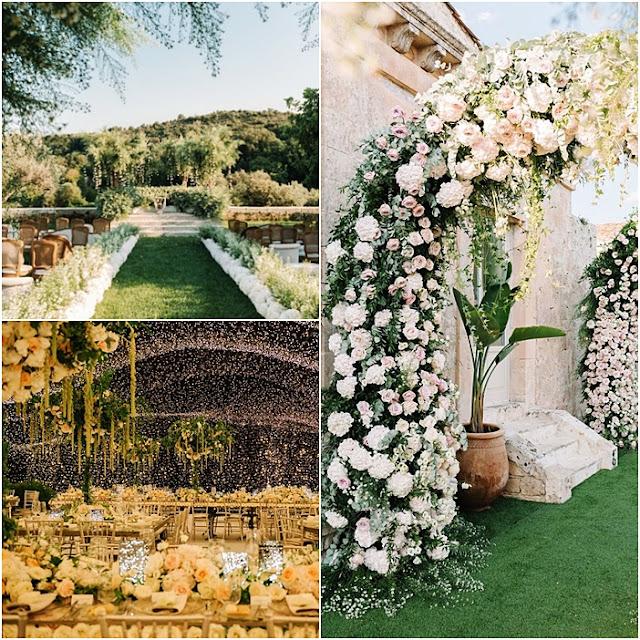 decoração casamento de Chiara Ferragni e fedez