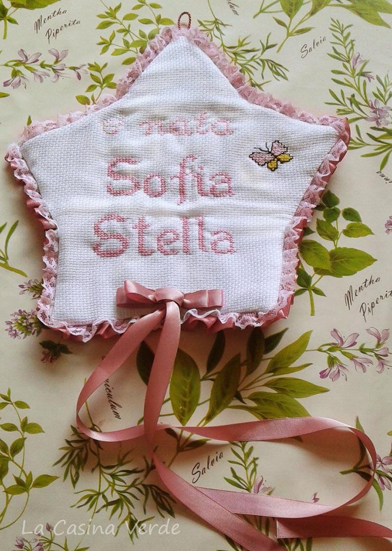 Fiocco di nascita Stella